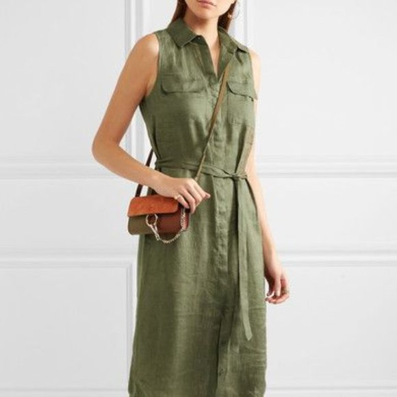 Equipment Linen Dress with Belt (Medium)